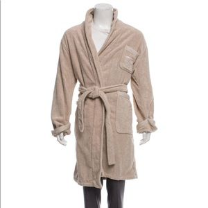 Burberry embroidered woven robe
